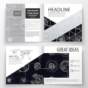 Szablony biznesowe dla broszury kwadratowej bi fold