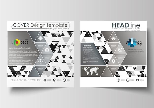 Szablony biznesowe dla kwadratowej broszury, czasopisma, ulotki, broszury lub raportu. osłona na ulotki