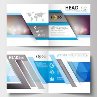 Szablony biznesowe dla kwadratowej broszury projektowej, czasopisma, ulotki.