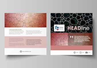 Szablony biznesowe dla kwadratowej broszury projektowej
