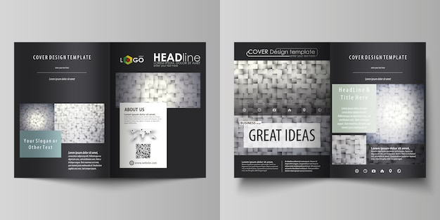 Szablony biznesowe do broszury bi fold