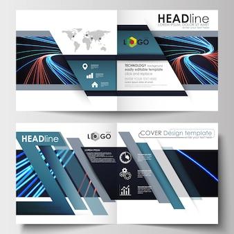 Szablony biznesowe do kwadratowej broszury