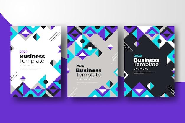 Szablony biznesowe streszczenie z kształtami