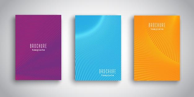 Szablony broszur z abstrakcyjnych wzorów