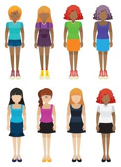 Szablony dziewcząt bez twarzy