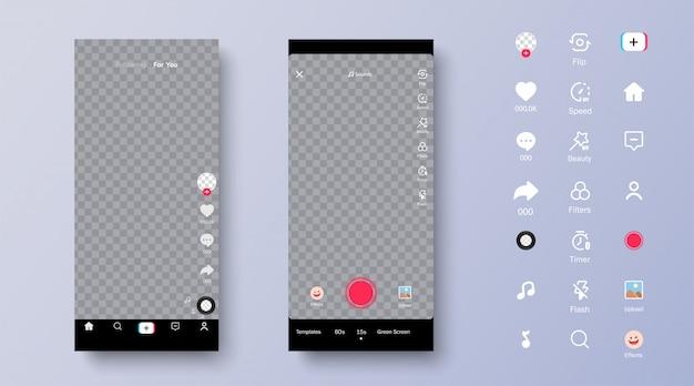Szablony ekranu i ikon.