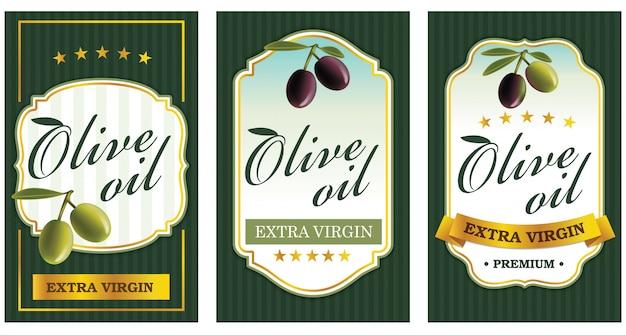 Szablony etykiet z oliwą z oliwek
