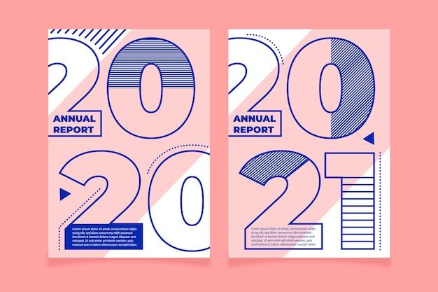 Szablony geometrycznych raportów rocznych 2020-2021