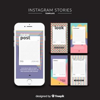 Szablony historii na instagramie z pustą ramką