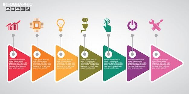 Szablony infografiki dla biznesu
