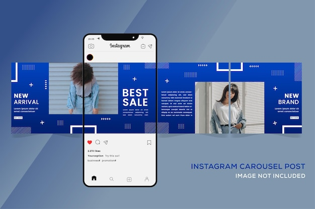 Szablony karuzeli instagram dla premium sprzedaży mody