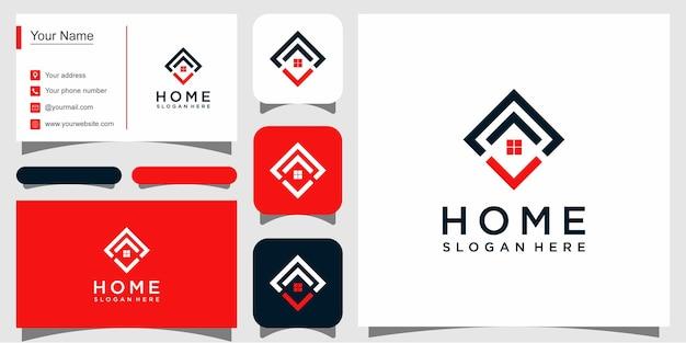 Szablony logo do domu i wizytówki