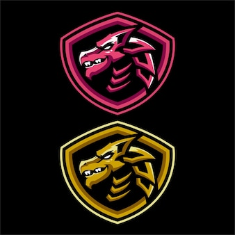 Szablony logo dragon esports