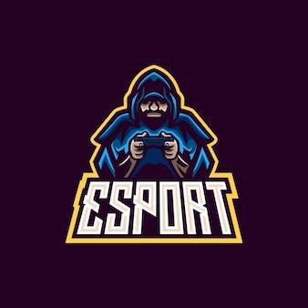 Szablony logo gaming witch