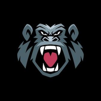 Szablony logo gorilla angry
