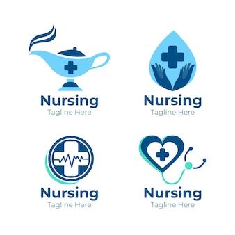Szablony logo kreatywnych pielęgniarki