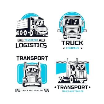 Szablony logo kreatywnych samochodów ciężarowych