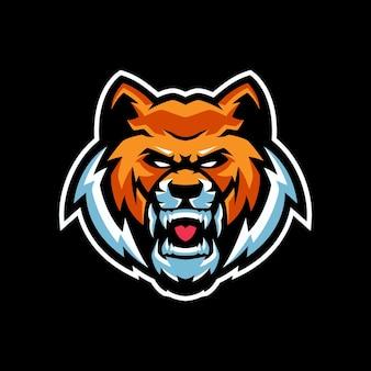Szablony logo maskotka tygrys