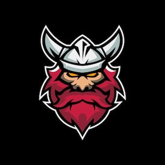 Szablony logo maskotka wikingów