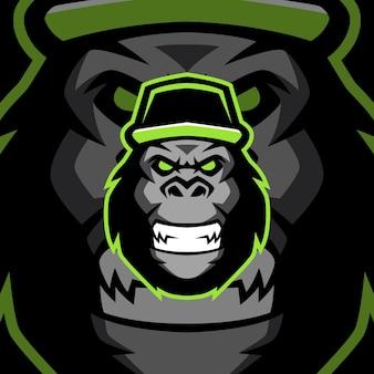 Szablony logo maskotka zły goryl