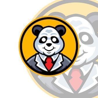 Szablony logo maskotki pandy