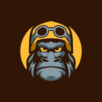 Szablony logo motocykla kask gorilla