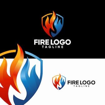 Szablony logo ognia