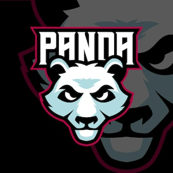 Szablony logo panda esports