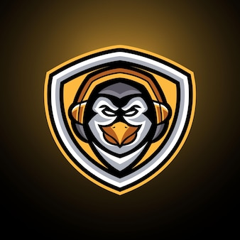Szablony logo penguin esports