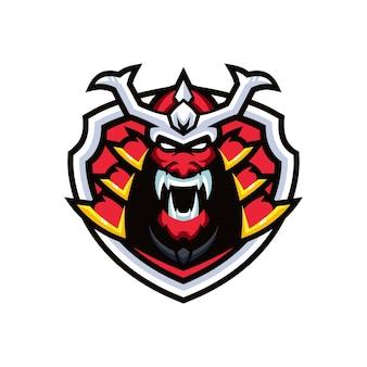 Szablony logo samurai esports
