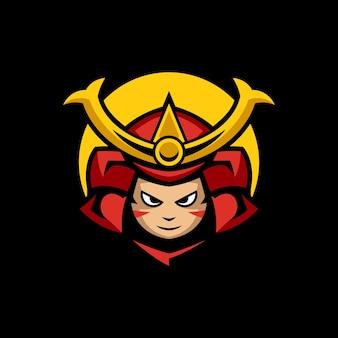 Szablony logo samurai sports