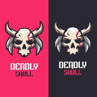 Szablony logo skull deadly