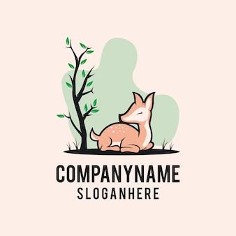 Szablony logo śpiący jelenie