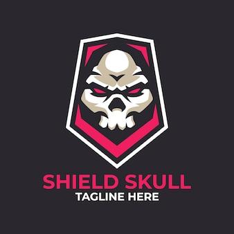 Szablony logo tarcza czaszki
