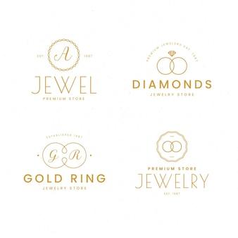 Szablony logo z płaskim pierścieniem