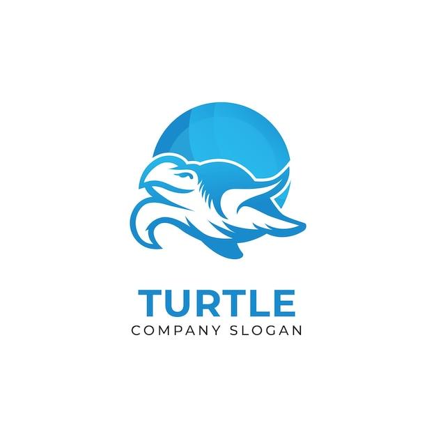 Szablony logo żółwia morskiego