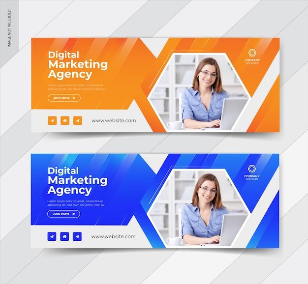 Szablony mediów społecznościowych marketingu cyfrowego