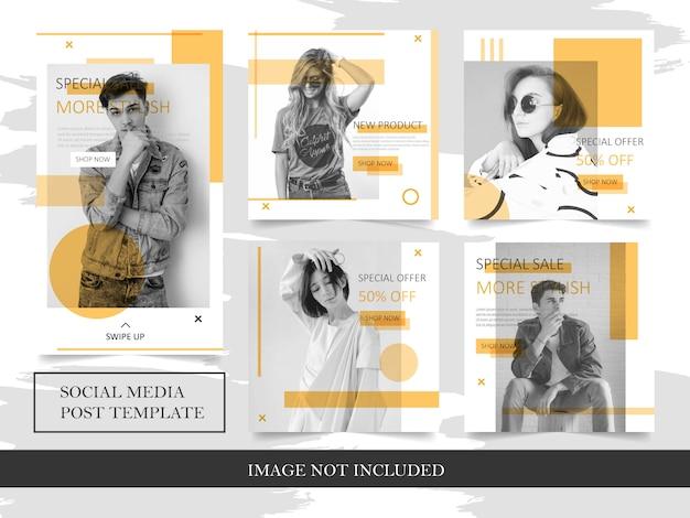 Szablony moda baner do postu w mediach społecznościowych