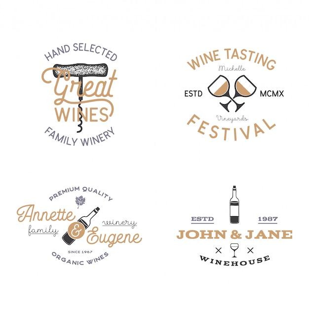 Szablony odznak wina