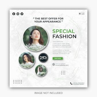 Szablony postów w mediach społecznościowych dla minimalistycznego biznesu modowego