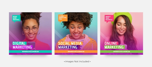 Szablony postów w mediach społecznościowych do marketingu cyfrowego