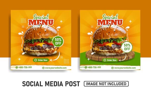 Szablony postów w mediach społecznościowych odpowiednie do promocji zakupowych