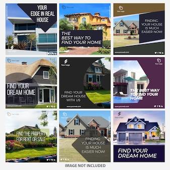 Szablony postów z instagramów nieruchomości