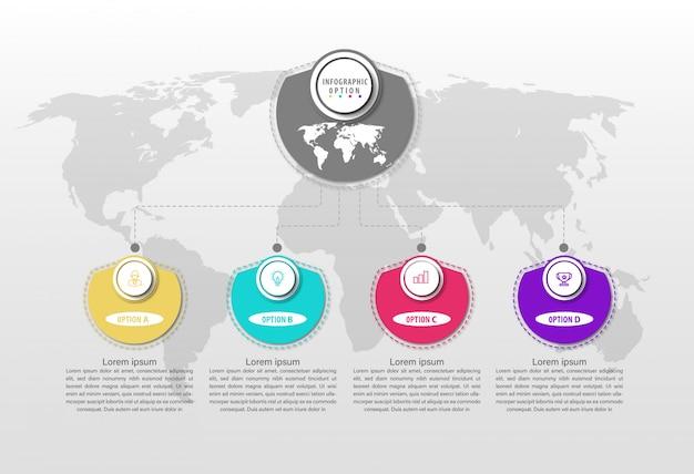 Szablony projektów infografikę linii biznesowej