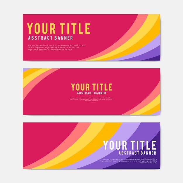 Szablony projektów kolorowych i abstrakcyjnych banerów