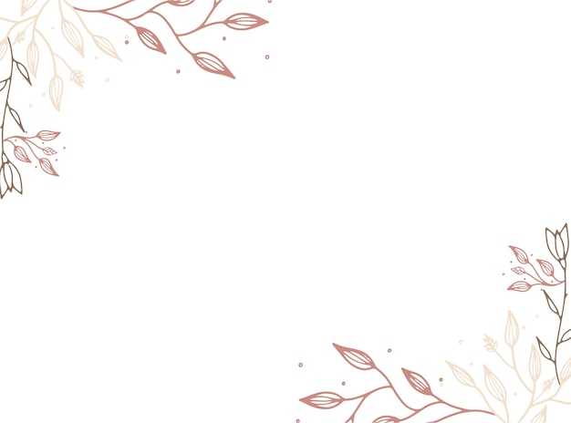 Szablony projektów wektorowych w prostym, nowoczesnym stylu z miejscem na kopię tekstu, kwiatów i liści - tła i ramki zaproszenia ślubne, tapety z historii mediów społecznościowych