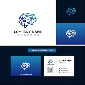 Szablony projektowania logo mózgu