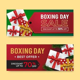 Szablony sprzedaż banner drugi dzień świąt