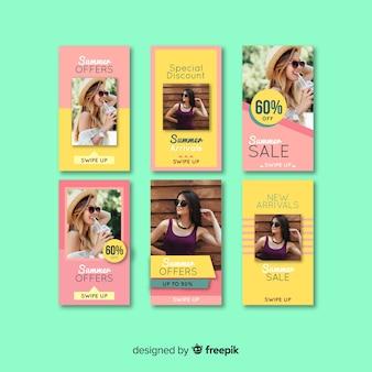 Szablony sprzedaży artykułów instagram letnich