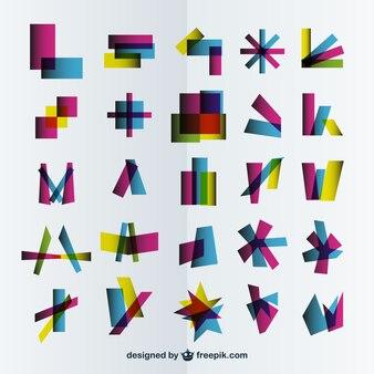 Szablony streszczenie logo kolekcji